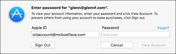 Mac App Store-inloggning