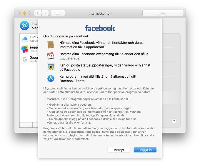 Radera Facebook från din Mac