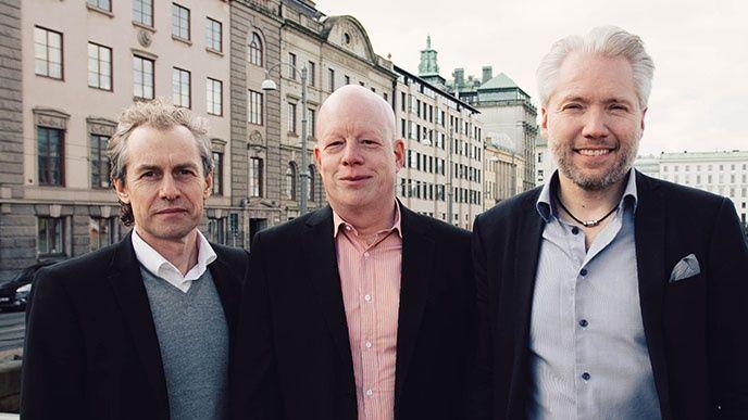 Mattias Karlsson, Johan Falk och Fredrik Johnsson