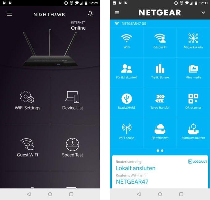 Netgear Nighthawk R6800 appar