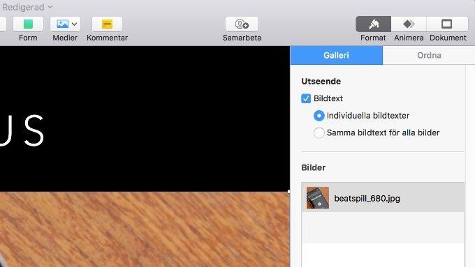 Keynote 8 för Mac