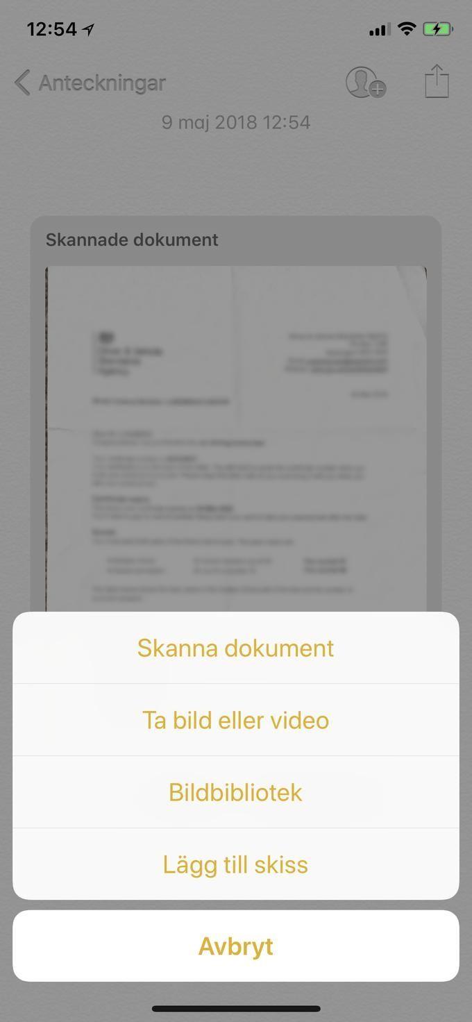 Skanna dokument