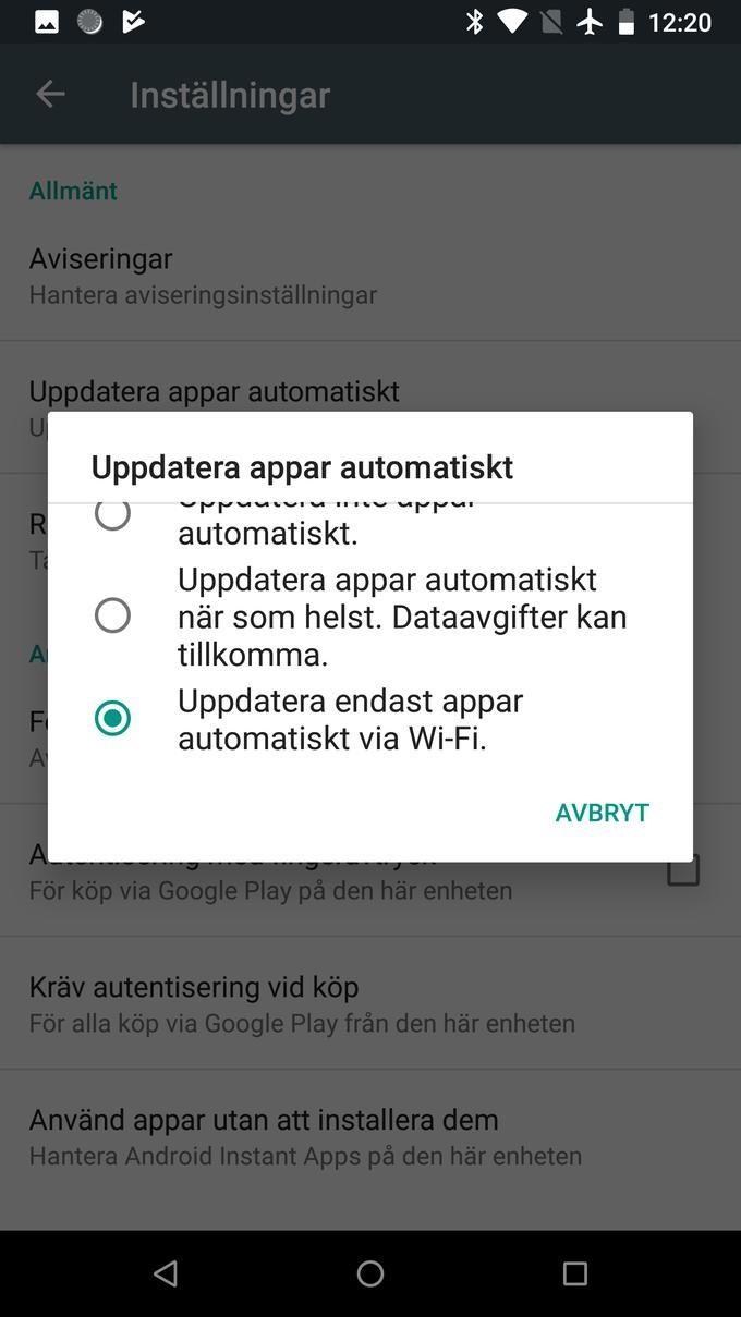 Uppdatera automatiskt