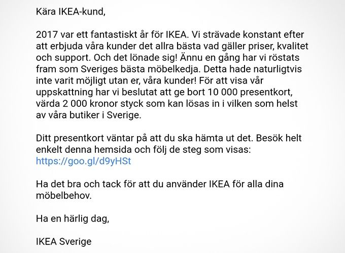 Ikea bluff