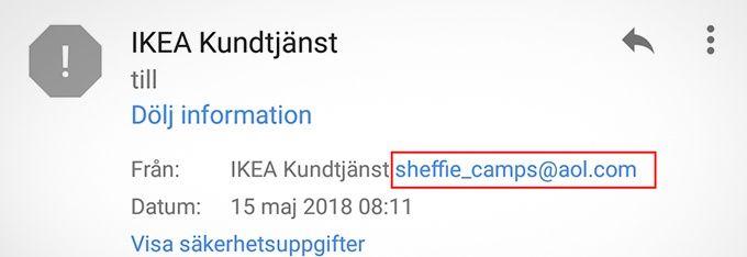 Ikea bluffmejl
