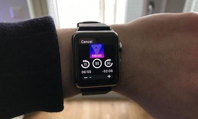 Poddspelare på Apple Watch