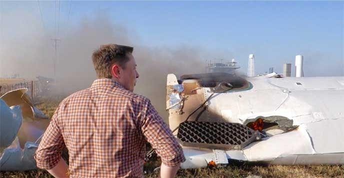 spacex rocket crash