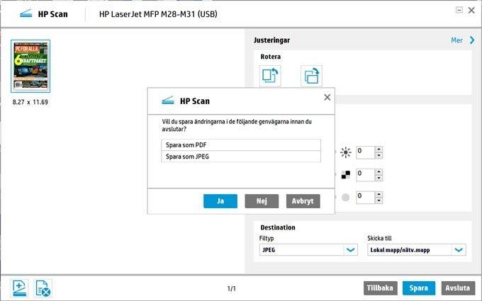 HP Laserjet Pro MFP M28w mjukvara