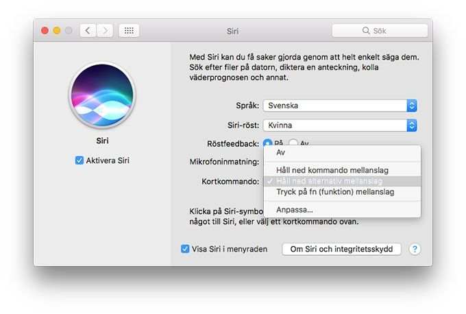 Siri på Mac