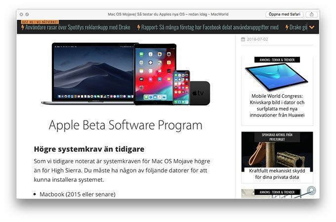 Spara webbsidan