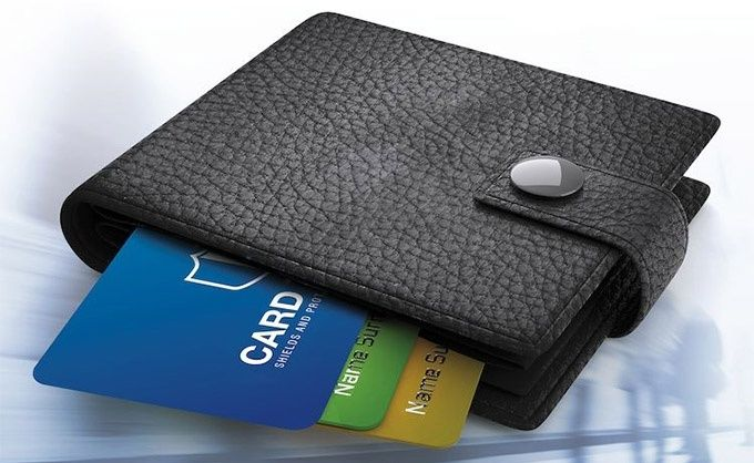 Plånbok korthållare rfid-skydd