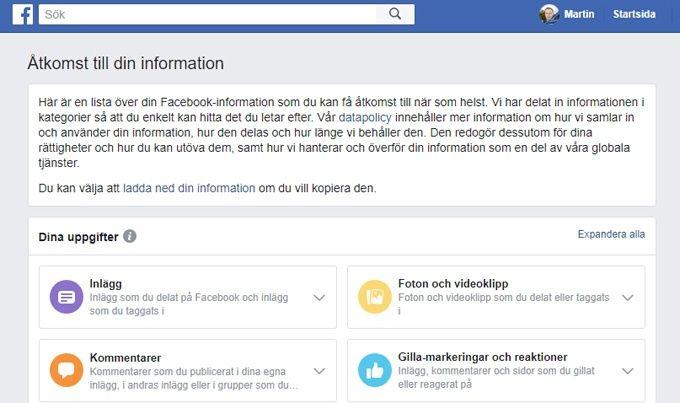 Facebook säkerhet privata inställningar