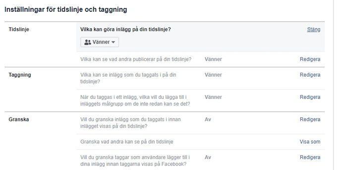 Facebook säkerhet privat