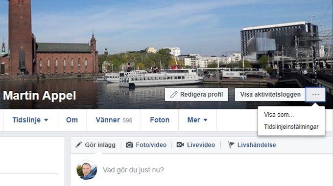 Skydda privata uppgifter på Facebook