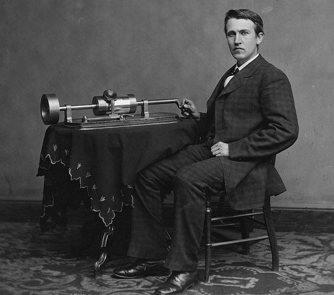 fonograf thomas edison