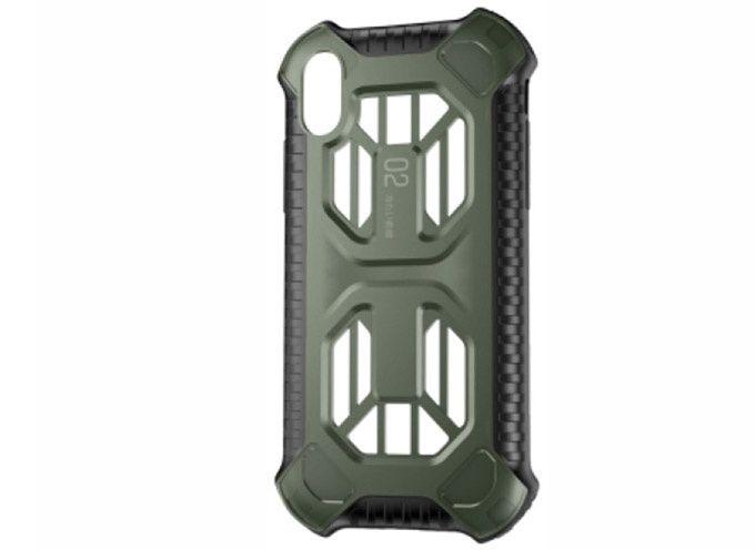 Baseus Cold Front Skal till iPhone Xs Max TPU Hårdplast Värmeavledande Svart Mörkgrön