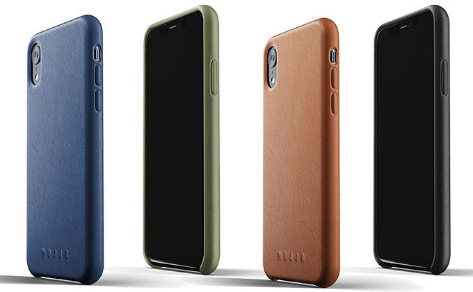 Mujjo Full Leather Case för iPhone Xr