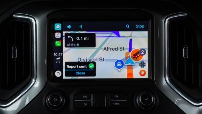 Waze med Carplay