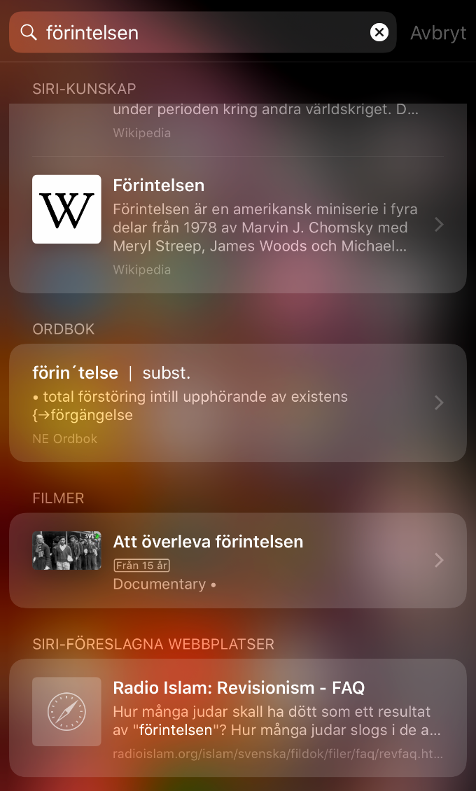 Siri-kunskap