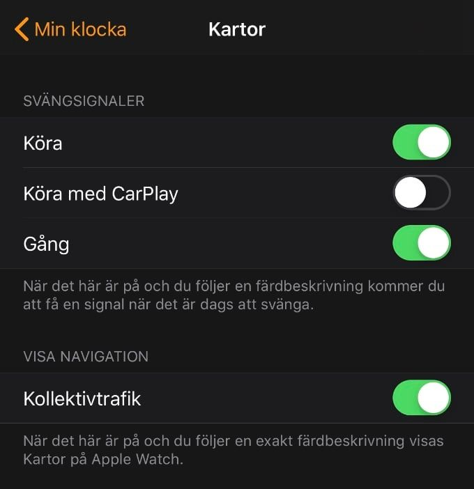 Köra med Carplay