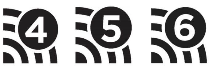 Nya föreslagna wifi-ikoner