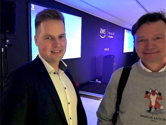 """Tony Hendrell och Niklas Flyborg på Cybercom besöker """"loftet"""""""