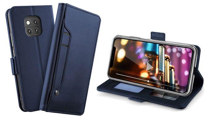 Huawei Mate 20 Pro Plånboksfodral med Korthållare - Mörkblå