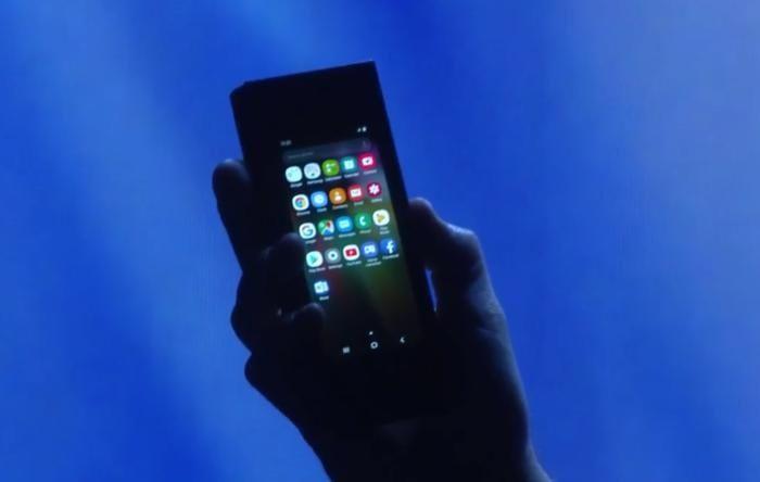 Samsung vikbar telefon