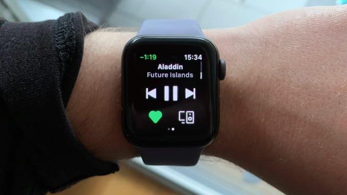 Test av Spotify på Apple Watch