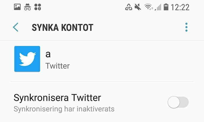 Synka konton Android