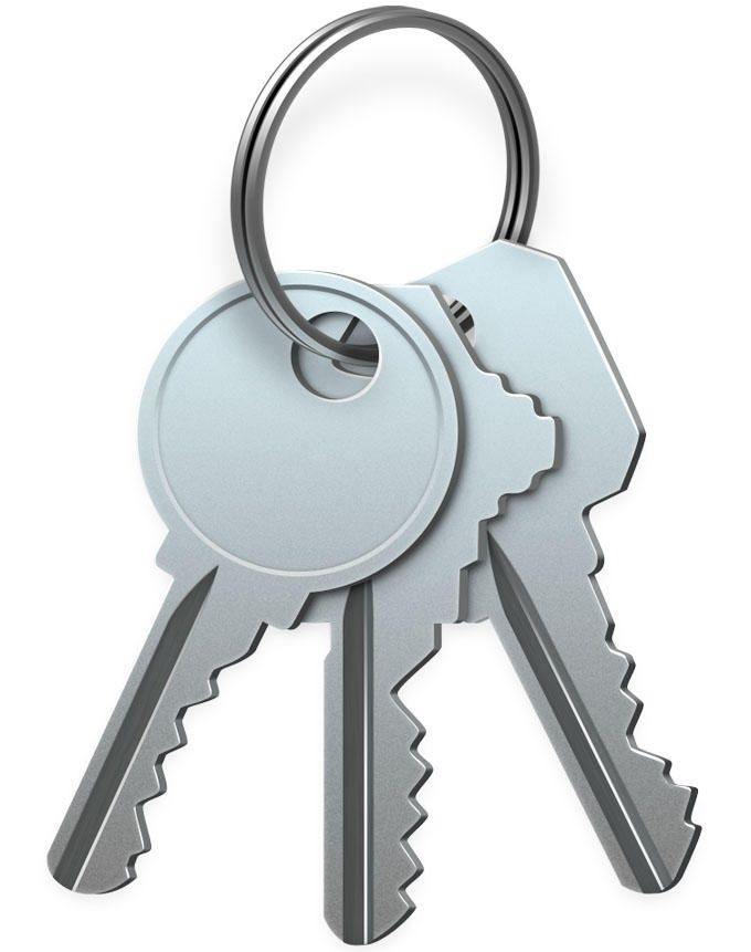 Icloud-nyckelringen
