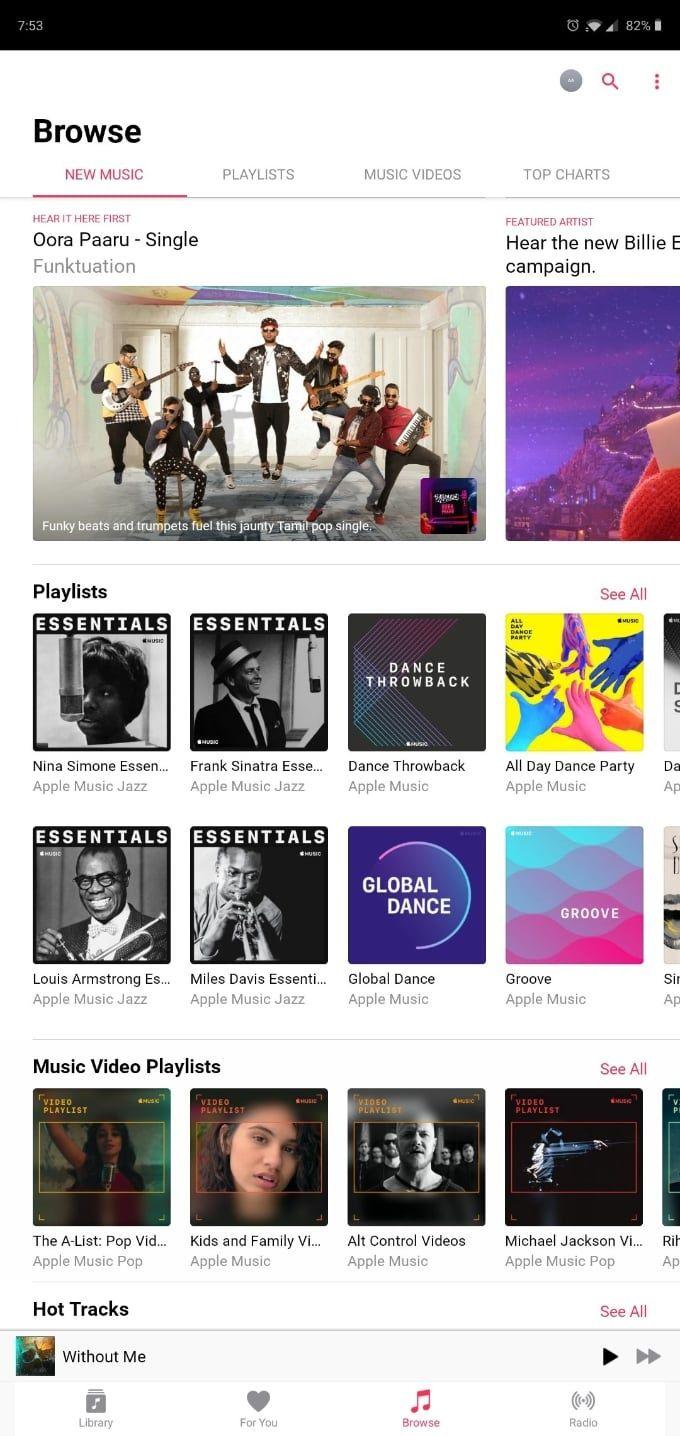 Android Music kommer till Android-plattor