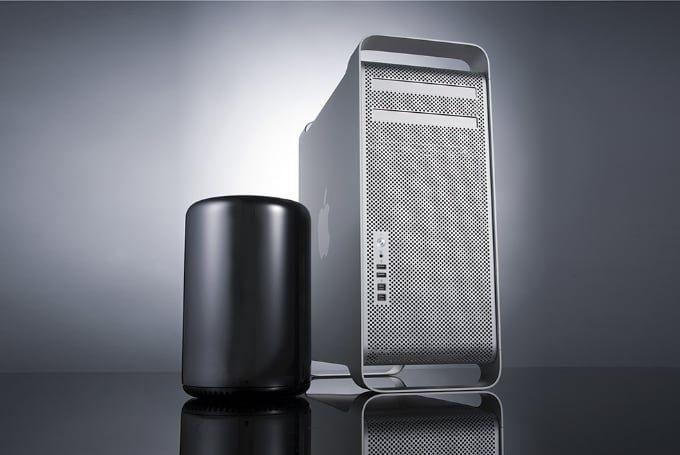 Förra och nuvarande generationen Mac Pro