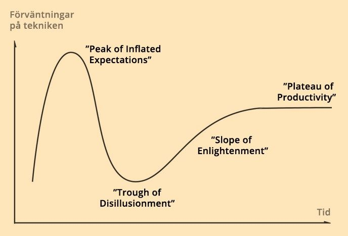 Illustration: Gartners Hype Cycle