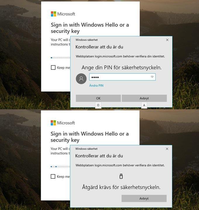 Yubikey inloggning Microsoft