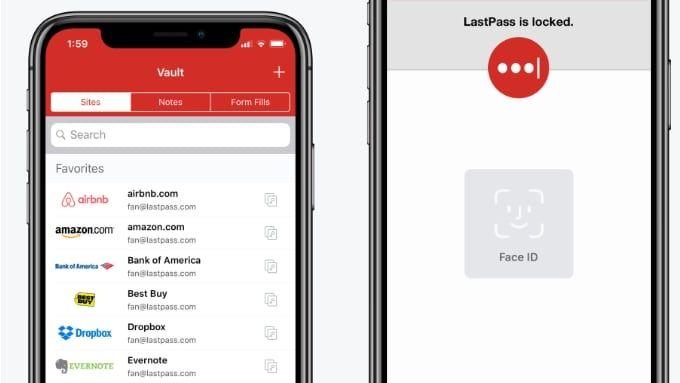 Lösenordshanterare för Iphone med stöd för Face ID