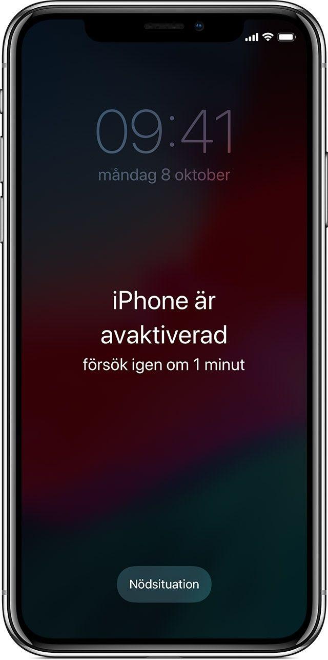 Iphone är avaktiverad