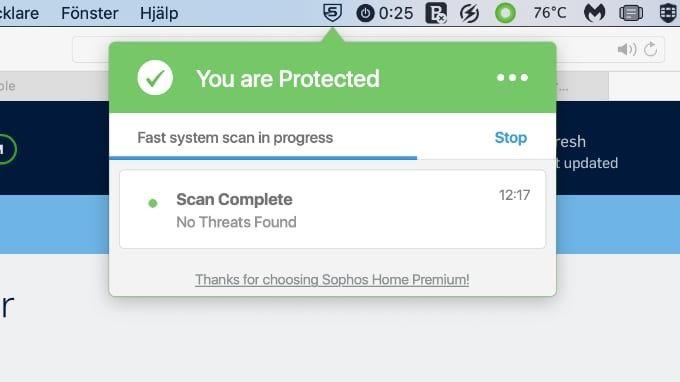 Test Antivirus för Mac