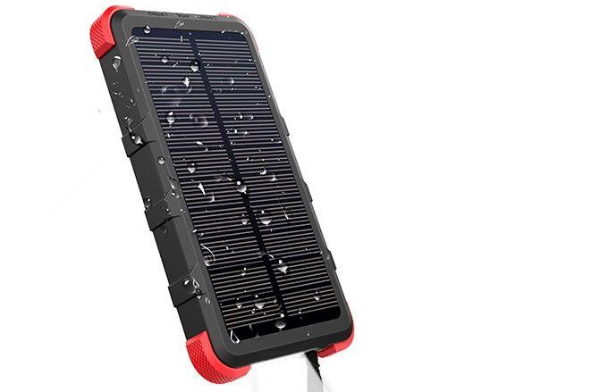 Vattentät powerbank solceller