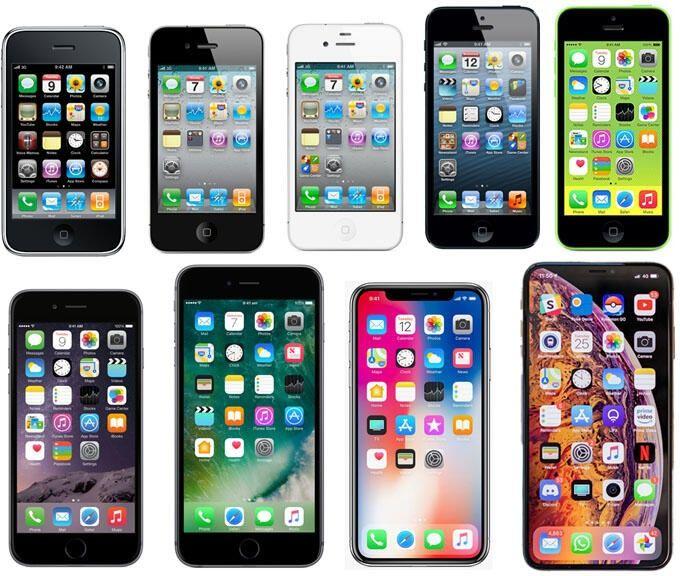 Olika Iphone-modeller