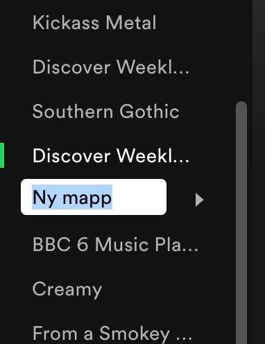 Mappar för spellistor