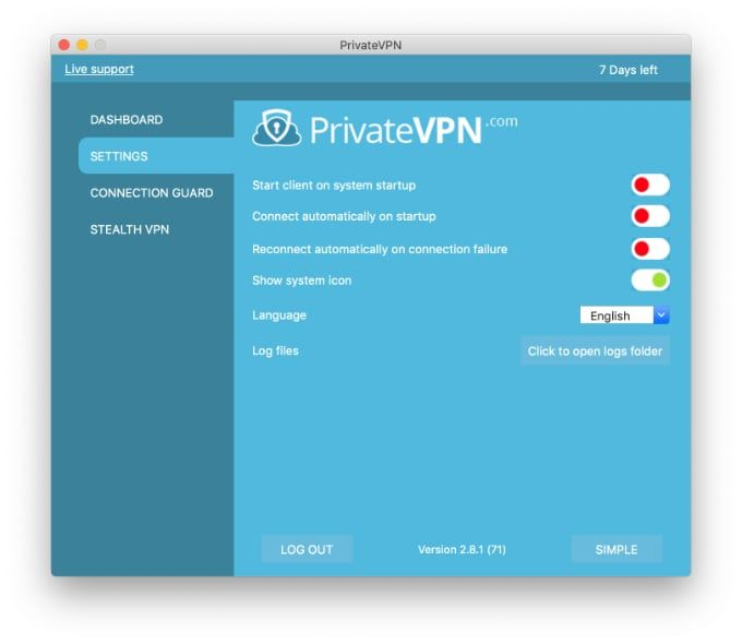 Test Private VPN för Mac