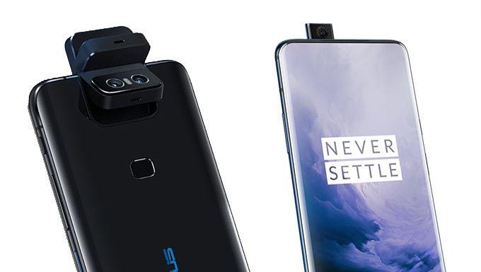 Asus Zenfone 6 (vänster) Oneplus 7 Pro (höger).