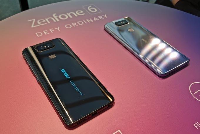 Zenfone 6 färgval.