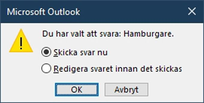 Omröstning i Outlook