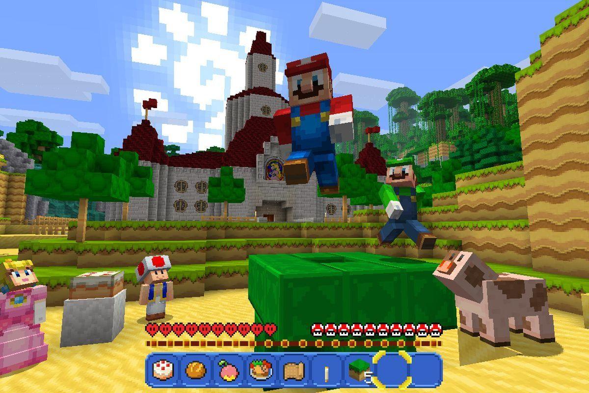 Mario in Minecraft
