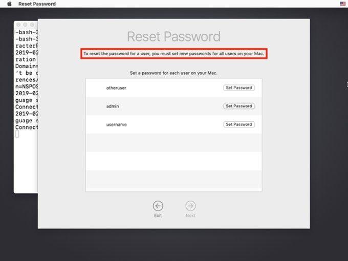 Nollställ lösenord