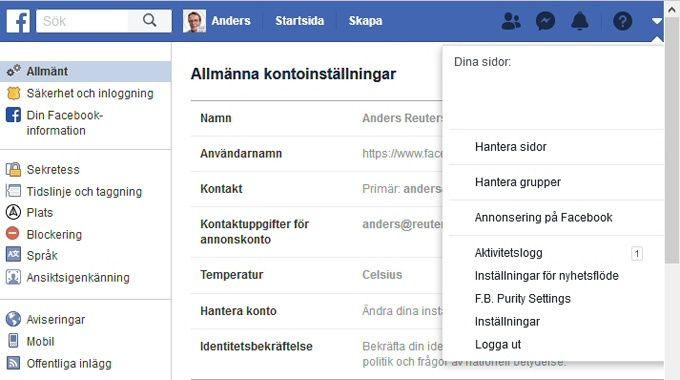 Facebook Säkerhet