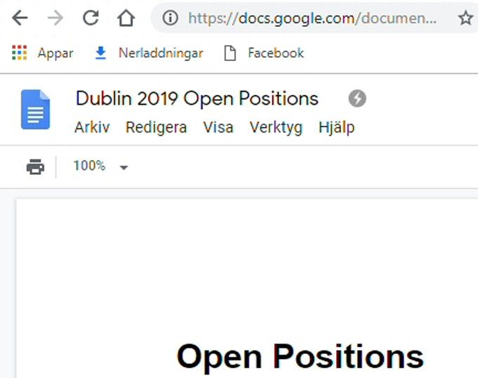 Google Dokument offline