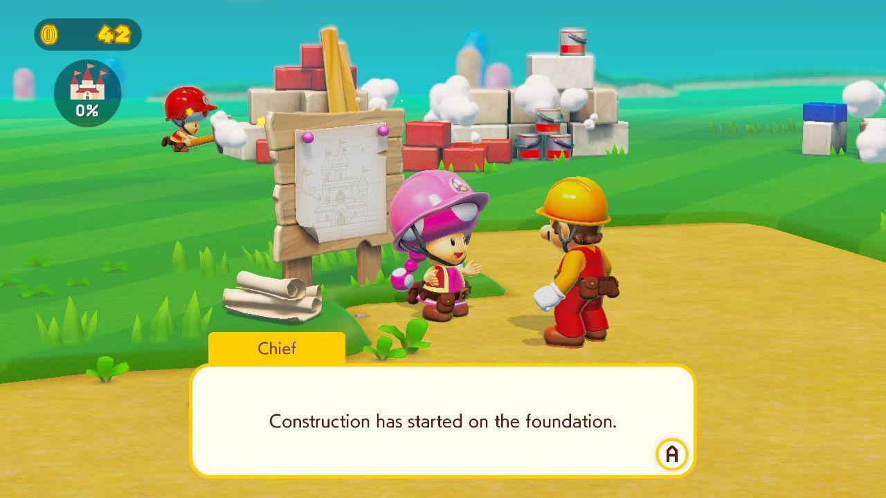 Mario and Toadette in story mode